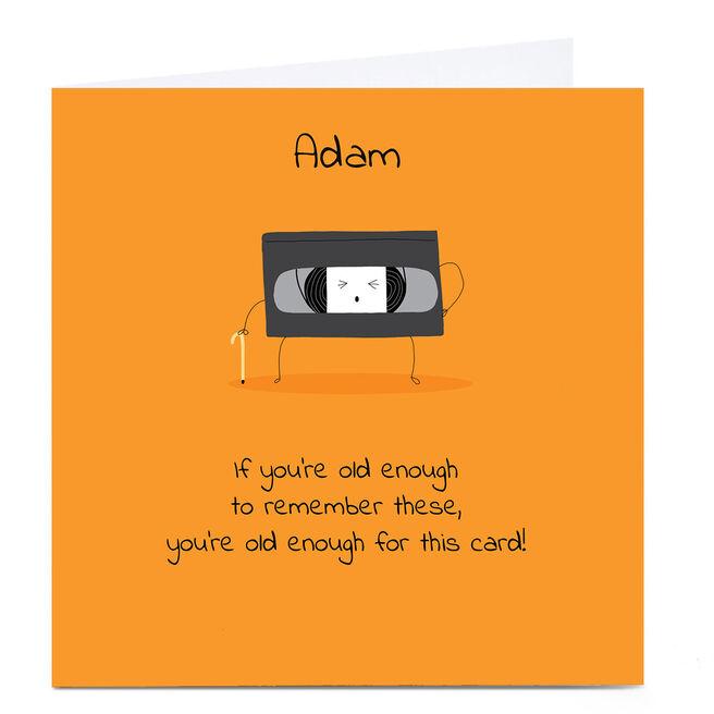 Personalised Cory Reid Birthday Card - VHS Tape