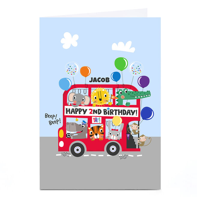 Personalised Rachel Griffin Birthday Card - Happy 2nd Birthday