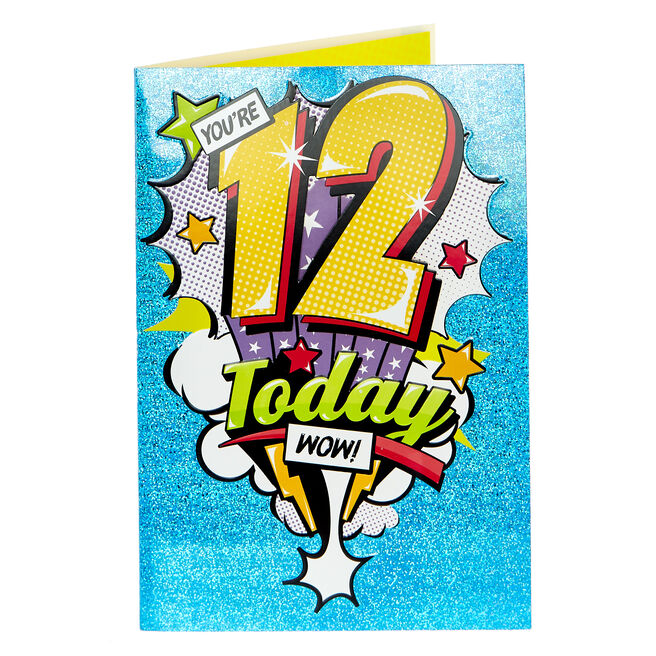 12th Birthday Card - WOW!