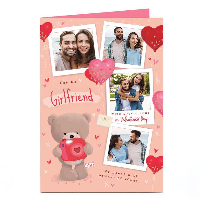 Photo Hugs Bear Valentine's Day Card - For My Girlfriend