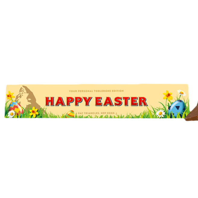 Personalised Easter Milk Chocolate Toblerone