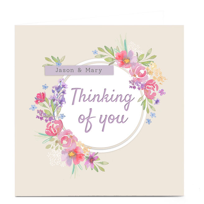 Personalised Kerry Spurling Thinking Of You Card - Floral