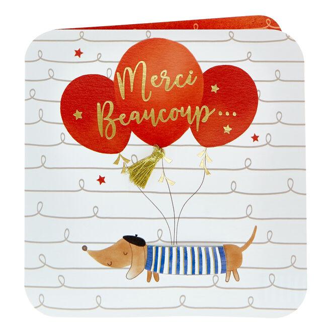 Boutique Collection Thank You Card - Merci Beaucoup