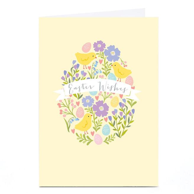 Personalised Klara Hawkins Easter Card - Flowers & Chicks