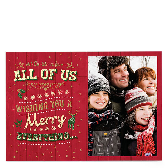 Photo Christmas Card - From All Of Us