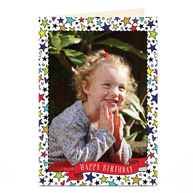 Photo Birthday Card - Starry Border