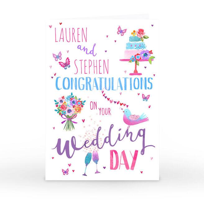 Personalised Nik Golesworthy Card - Congratulations On Your Wedding