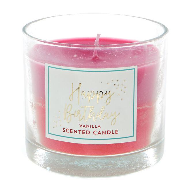 Happy Birthday Vanilla Scented Celebration Candle