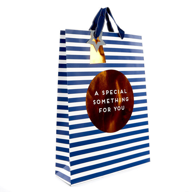 Large A Special Something Navy Gift Bag