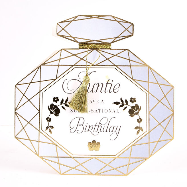 Boutique Collection Birthday Card - Auntie, Perfume