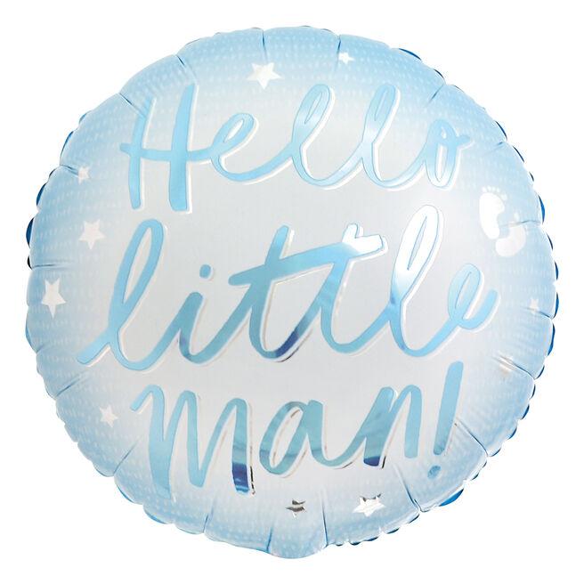 Hello Little Man 18-Inch Foil Helium Balloon