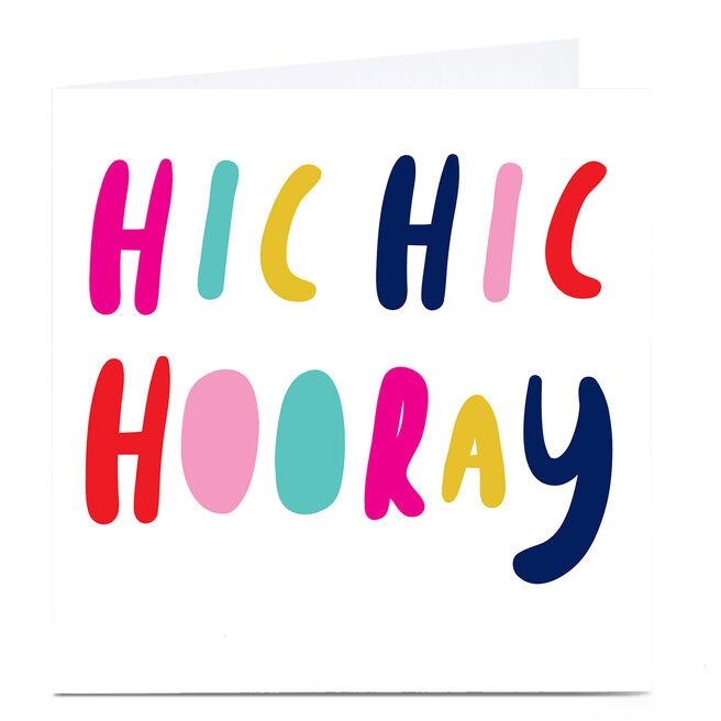 Personalised Hello Munki Card - Hic Hic Hooray