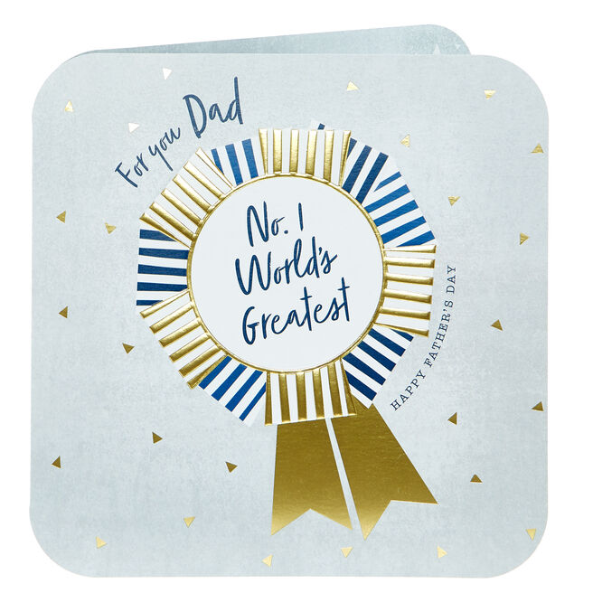 Platinum Collection Father's Day Card - Dad, No.1