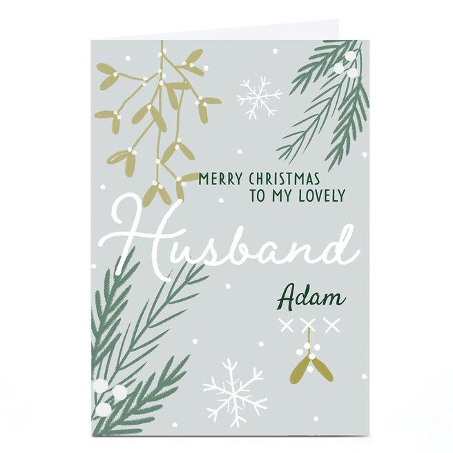 Personalised Juniper & Rose Studio Christmas Card - Husband
