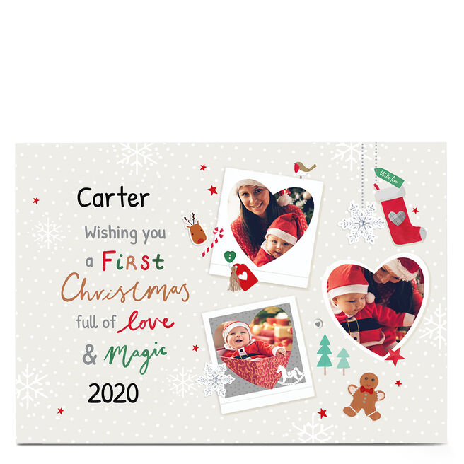 Personalised Christmas Photo Card - First Christmas
