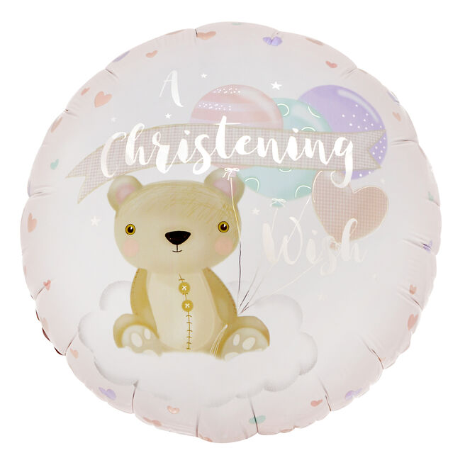 A Christening Wish 18-Inch Foil Helium Balloon
