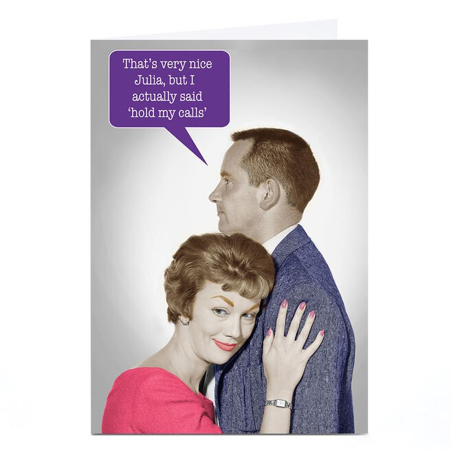 Personalised Any Occasion Card - Hold My Calls