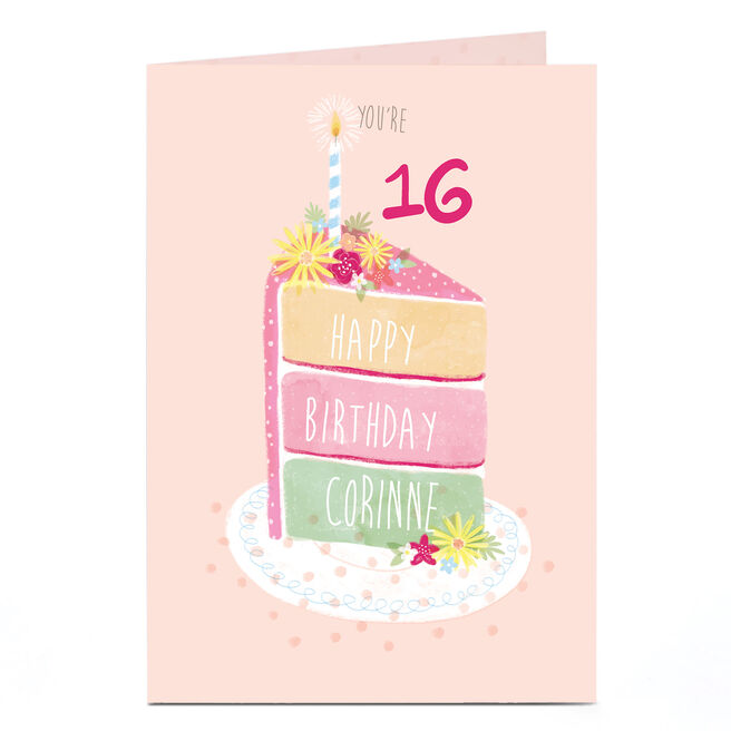 Personalised Birthday Card - Birthday Cake, Any Age