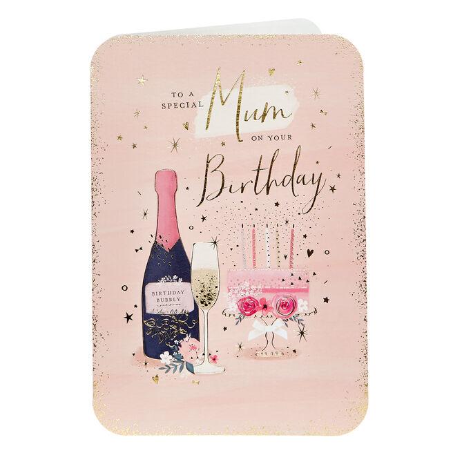 Birthday Card - Special Mum, Bubbly