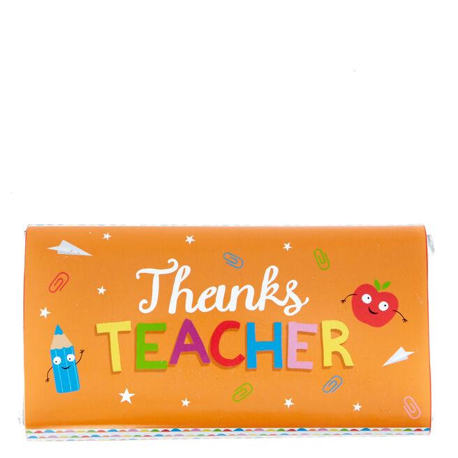 Thanks Teacher Milk Chocolate Bar