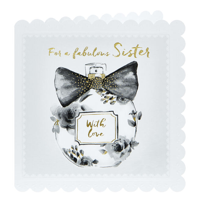 Birthday Card - Fabulous Sister With Love