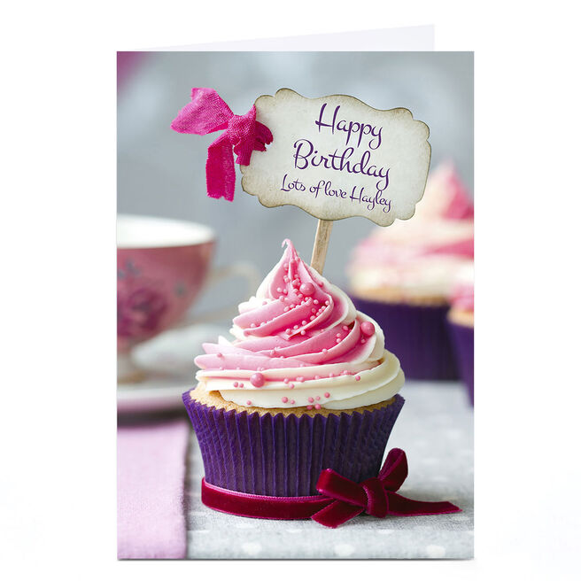 Personalised Birthday Card - Cupcake Sign
