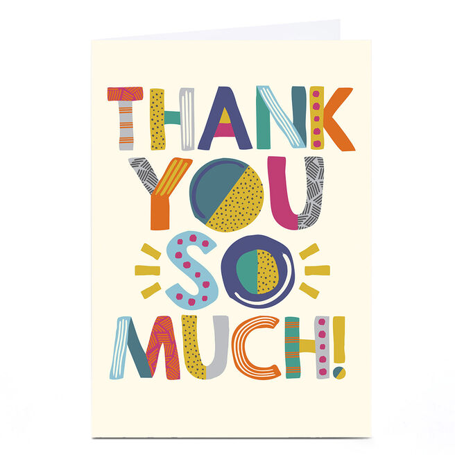 Personalised Thank You Card - Thank You So Much!