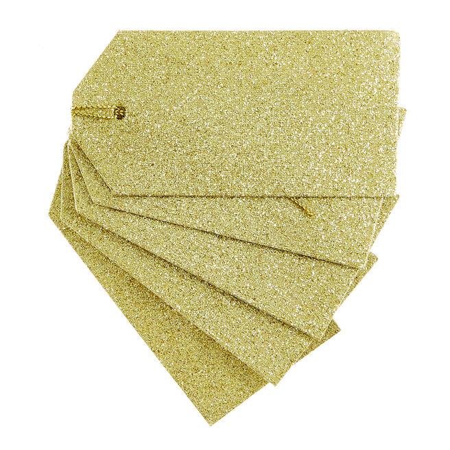 Gold Glitter Gift Tags - Pack Of 10