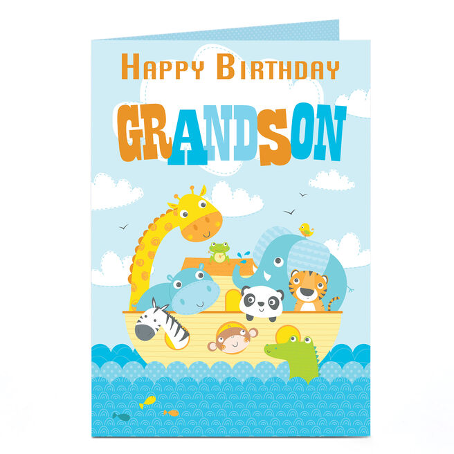 Personalised Birthday Card - Animal Ark [Grandson]