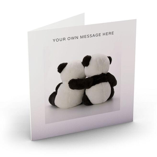 Personalised Card - Cuddling Pandas