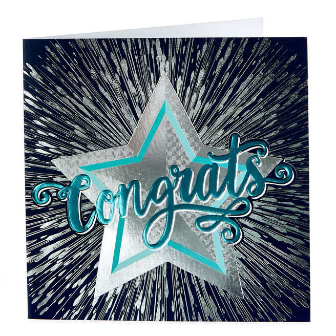 Boutique Collection Congratulations Card - Silver Star
