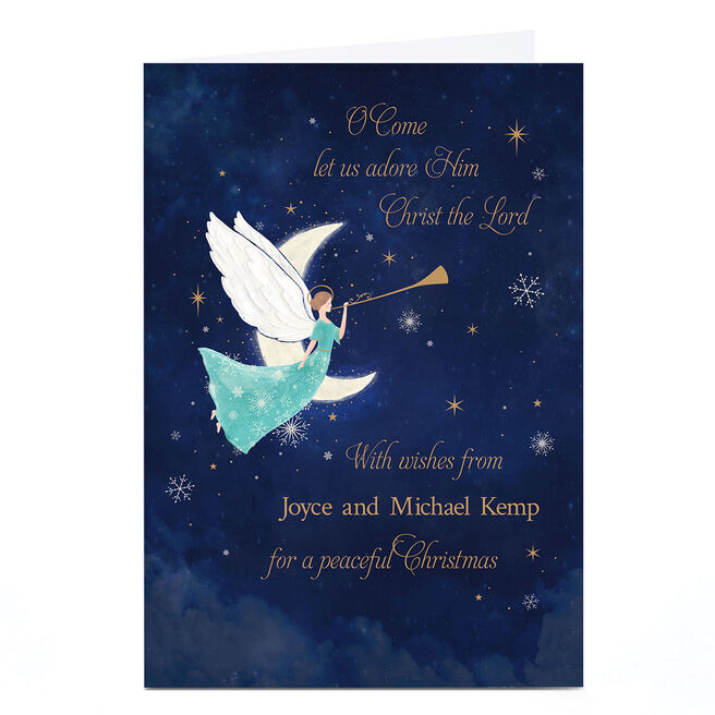 Personalised Christmas Card - Oh Come Let Us Adore Him