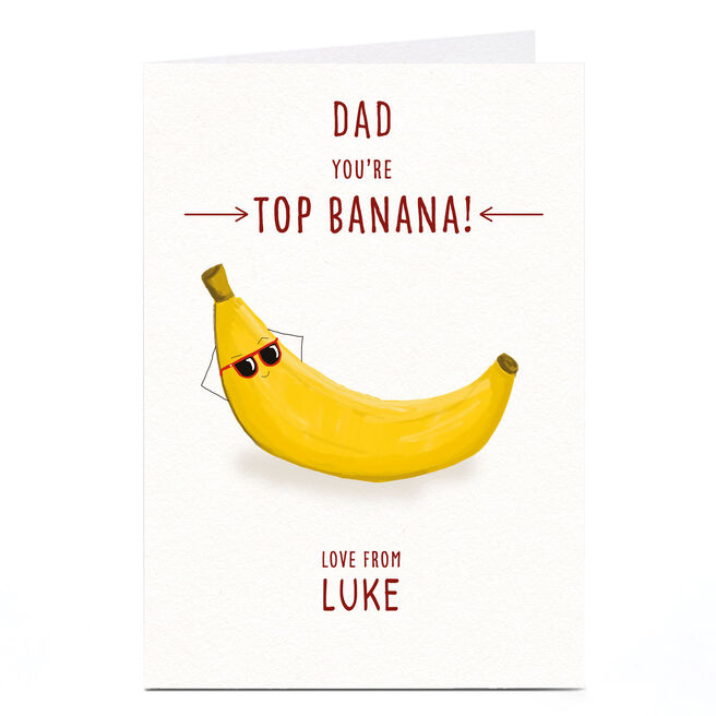 Personalised Card - Top Banana Dad