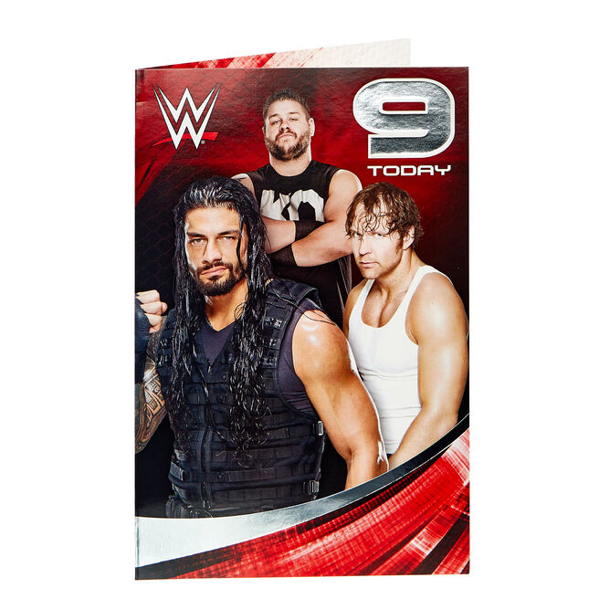 WWE 9th Birthday Card