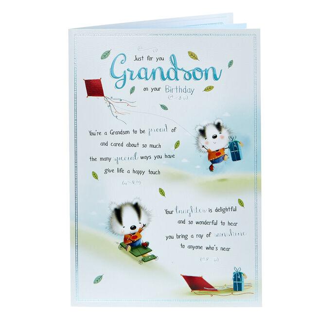 Birthday Card - Grandson, Badgers