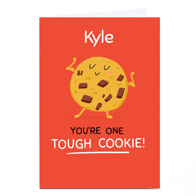 Personalised Hew Ma Card - Tough Cookie