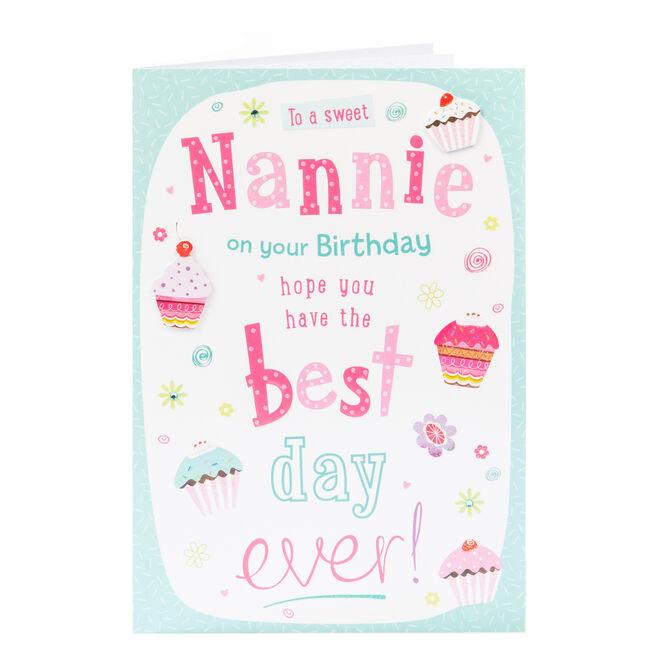 Birthday Card - Sweet Nannie