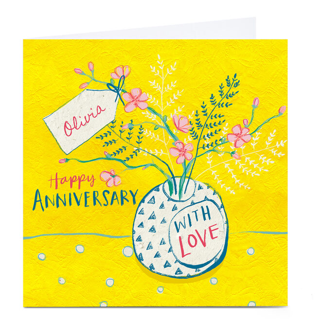 Personalised Emma Valenghi Anniversary Card - With Love