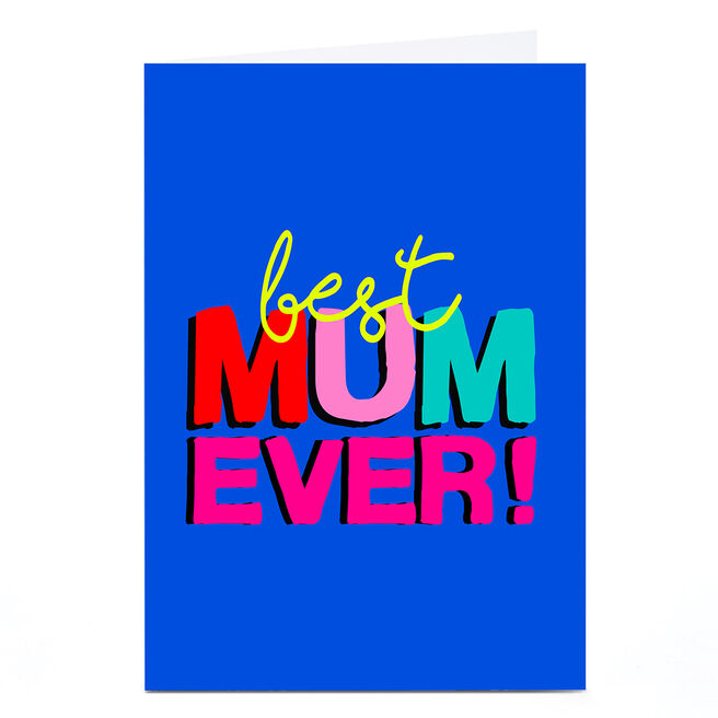 Personalised Rachel Griffin Mother's Day Card - Best Mum Ever