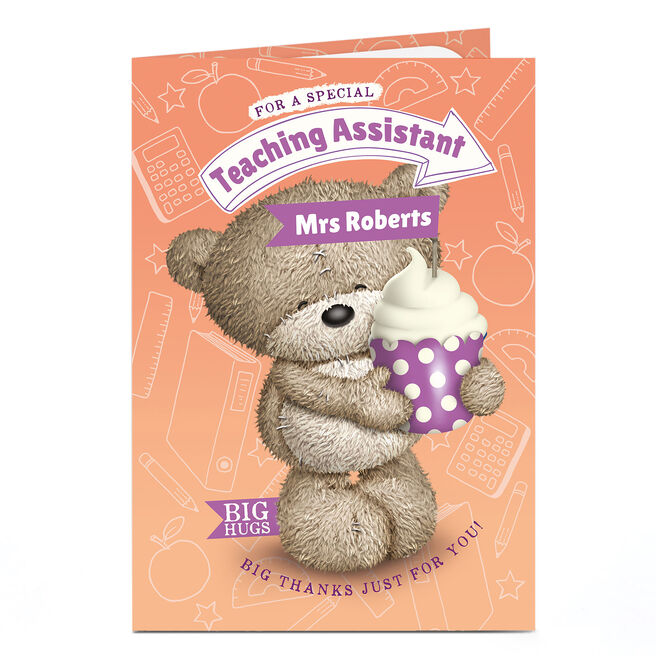 Hugs Personalised Thank You Teacher Card - Big Thanks