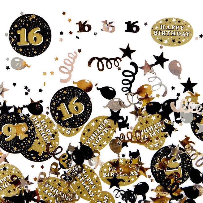 16th Birthday Gold Foiletti - Pack Of Three `
