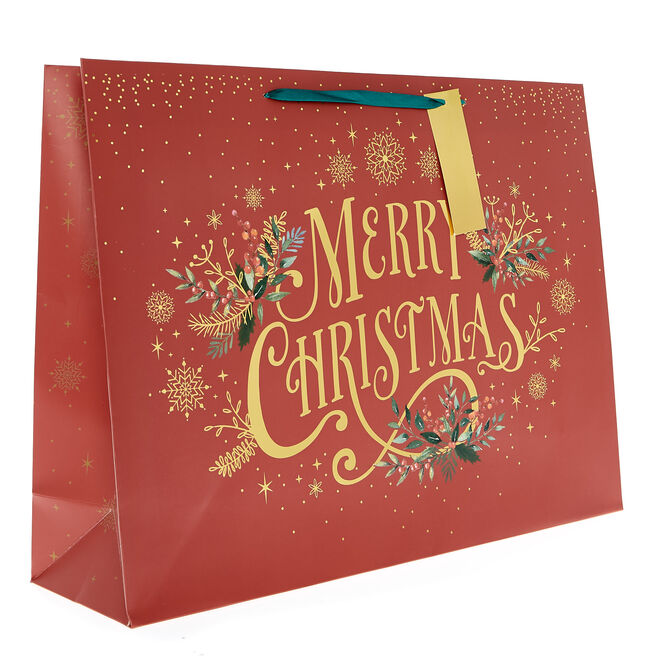 Large Landscape Classic Merry Christmas Gift Bag