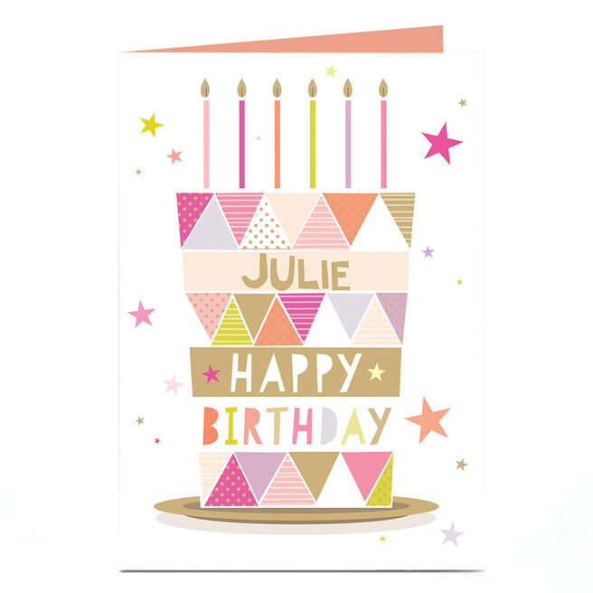 Personalised Birthday Card - Birthday Cake Triangles