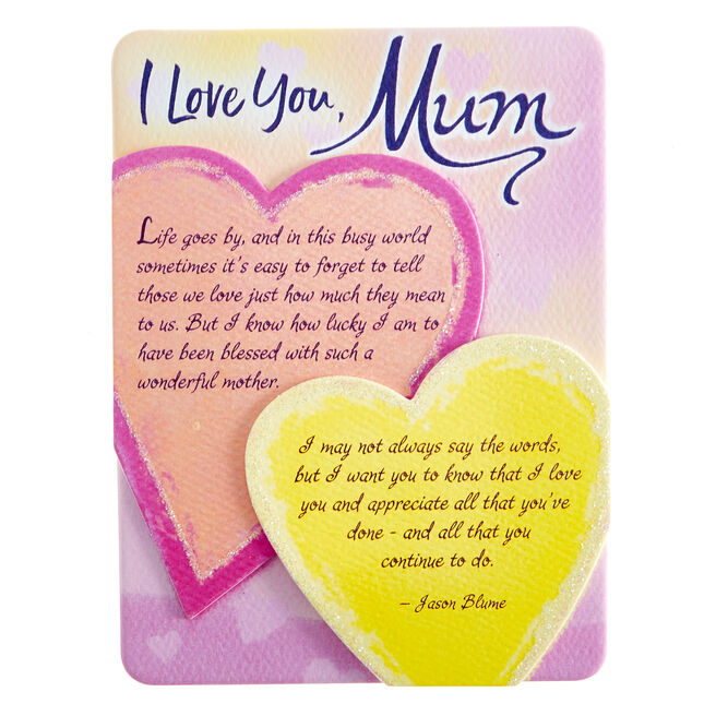 Blue Mountain Arts Magnet With Stand - I Love You Mum