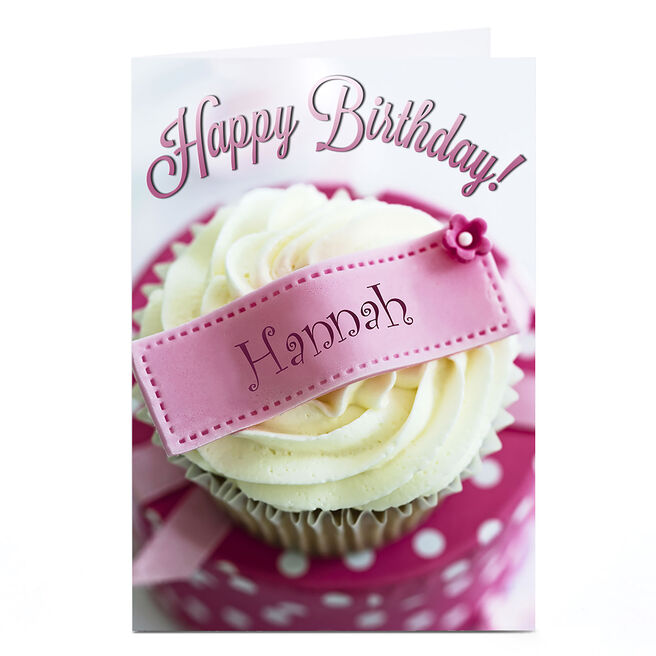 Personalised Birthday Card - Cupcake, Any Name