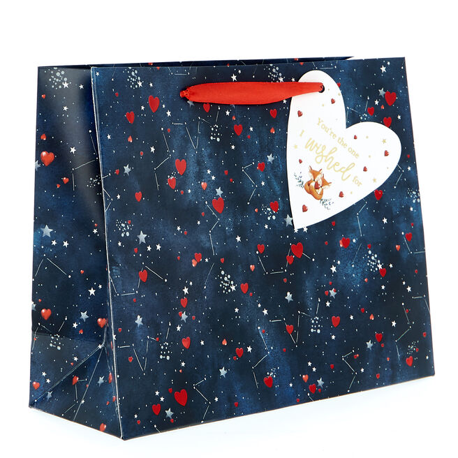 Small Landscape Valentine's Day Gift Bag - The One I Wished For