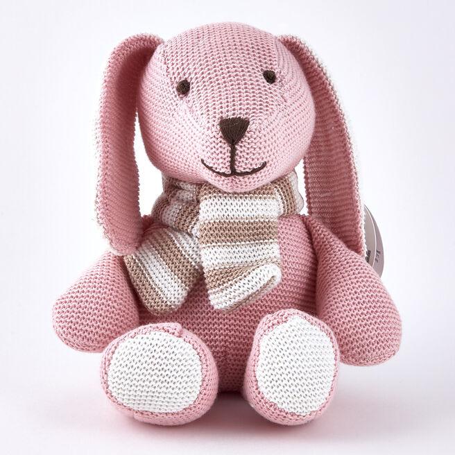 Tiny Treasures Pink & Cream Rabbit with Scarf