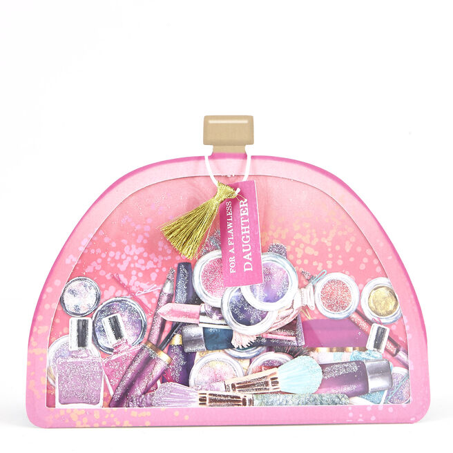 Boutique Collection Birthday Card - Daughter Makeup Bag