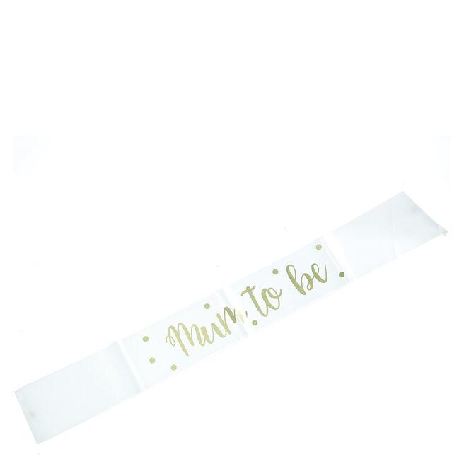 "Gold Foil Mum to Be"" Satin Sash | Card Factory"""