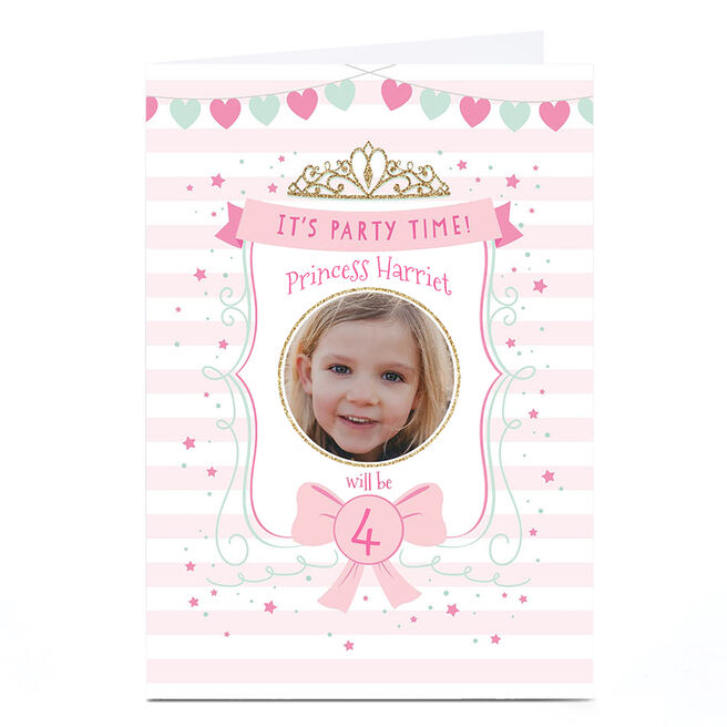 Personalised Birthday Party Invitation - It's Party Time!